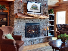 Three-Bedroom Cabin Fireplace