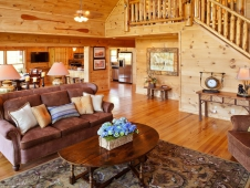 Three-Bedroom Cabin Living Room